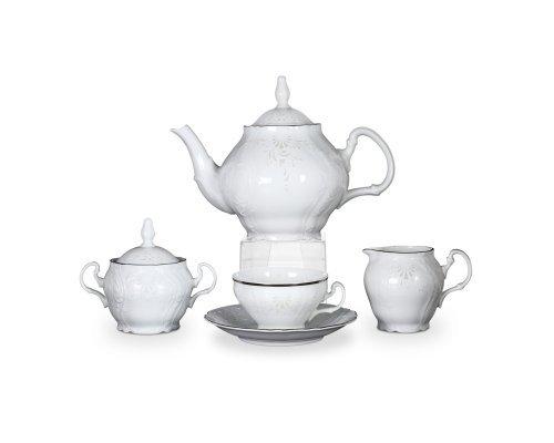 Чайный сервиз на 12 персон 29 предметов Бернадотт Платиновый узор