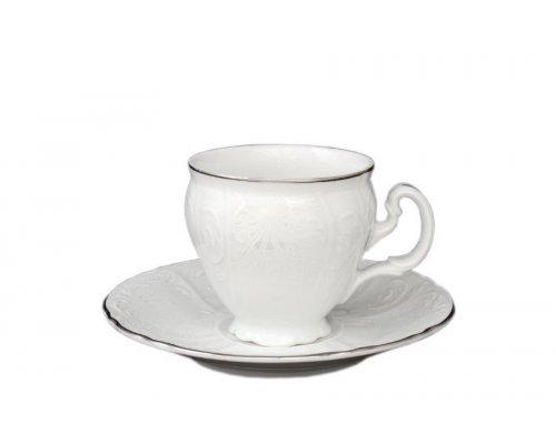 Набор кофейных пар Bernadotte Платиновый узор 90 мл (6 пар)