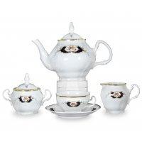 Чайный сервиз на 6 персон 17 предметов Бернадотт Синий глаз
