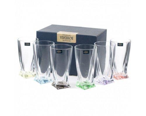 Набор стаканов 350 мл. Quadro Богемия Кристал (Bohemia Crystal) 6 шт.