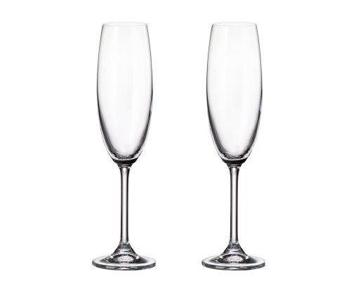 Набор бокалов для шампанского Crystalite Bohemia Sylvia/Klara 220 мл (2 шт)