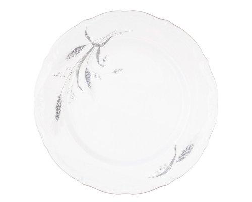 Набор плоских тарелок 25 см Серебряные колосья Repast (6 шт)