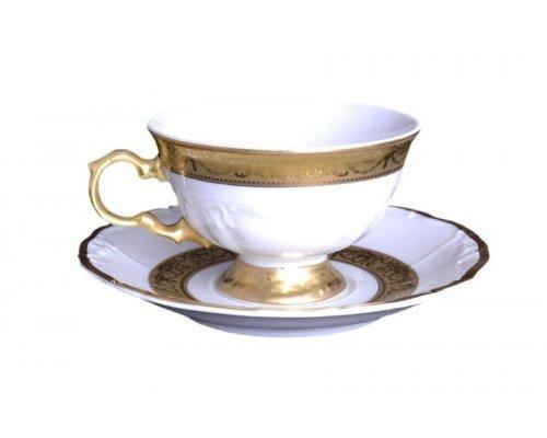Набор чайных пар Мария Луиза Матовая полоса Carlsbad 220 мл (6 пар)