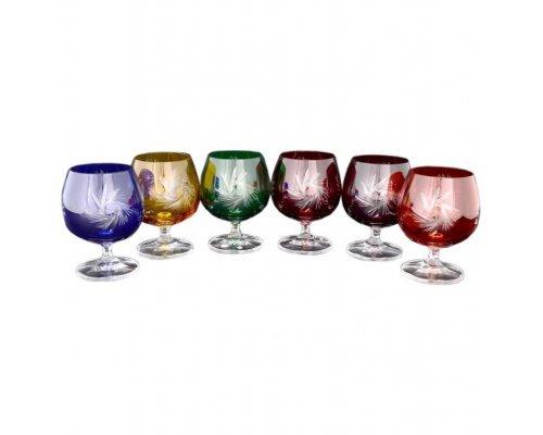 Набор бокалов для бренди 250 мл Цветной хрусталь Bohemia 8023 6 шт
