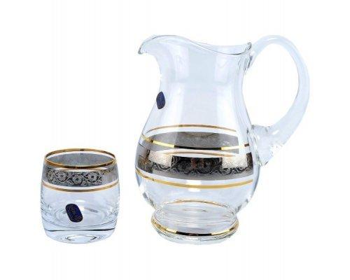 Набор для воды с низкими стаканами 7 предметов Идеал Панто V-D Bohemia Crystal