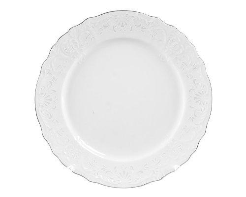 Блюдо круглое глубокое 32 см Бернадотт Платиновый узор