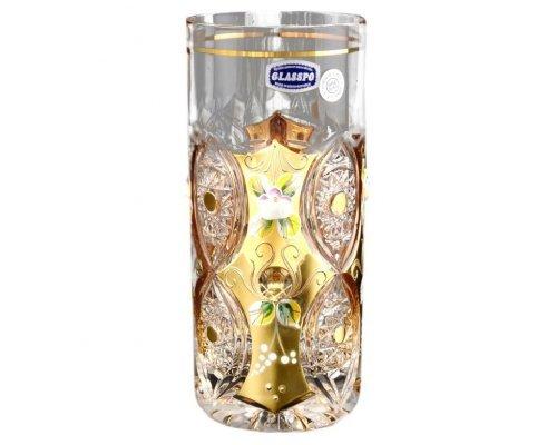 Набор стаканов для воды 350 мл G-P золото Glasspo Bohemia (Богемия)