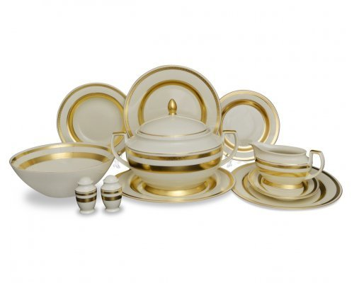 Столовый сервиз на 6 персон 27 предметов Falkenporzellan Cream Gold 9321