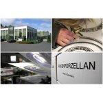 Столовый сервиз на 6 персон 27 предметов Falkenporzellan Toronto B&W Gold