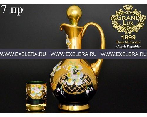 Набор для ликера 7 пр Bohemia (Богемия) Лепка Зеленая E-V