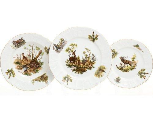 Набор тарелок 18 предметов Бернадотт Охота