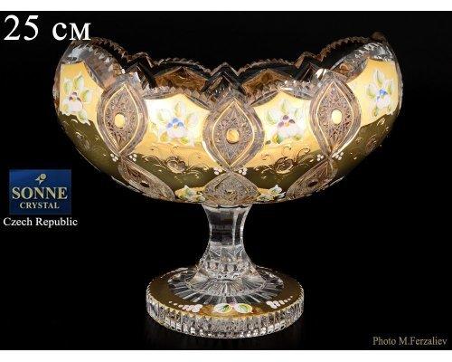 Ладья 25 см на ножке Sonne Crystal Золото