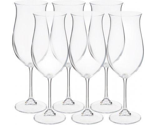 Набор бокалов для вина 490 мл Ellen Crystalite Bohemia (6 шт)