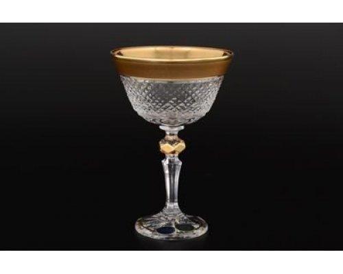 Набор креманок Фелиция 250 мл Sonne Crystal Золото (6 шт)