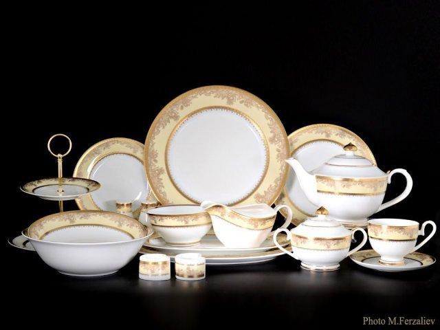 Чайно-столовый сервиз Ренессанс Karosa на 12 персон 81 предмет (2 коробки)