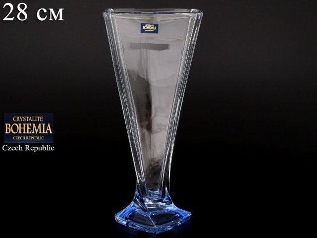 Ваза 28 см Quadro Богемия Кристал (Bohemia Crystal)