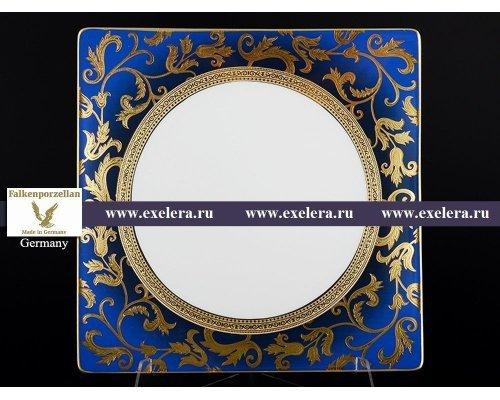 Набор тарелок 27 см Falkenporzellan Tosca Blueshade Gold (6 шт)