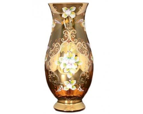 Ваза 30 см Лепка янтарная E-V Богемия Кристал (Bohemia Crystal)