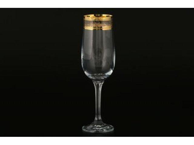 Набор фужеров для шампанского 180 мл Ева Богемия Кристал (Bohemia Crystal) (6 шт)