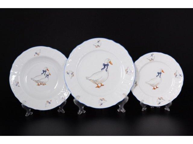 Набор тарелок 18 предметов Гуси Е-М Jeremy (Ереми)