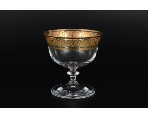 Набор креманок для мороженого Анжела золото Богемия Кристал (Bohemia Crystal) (4 шт)