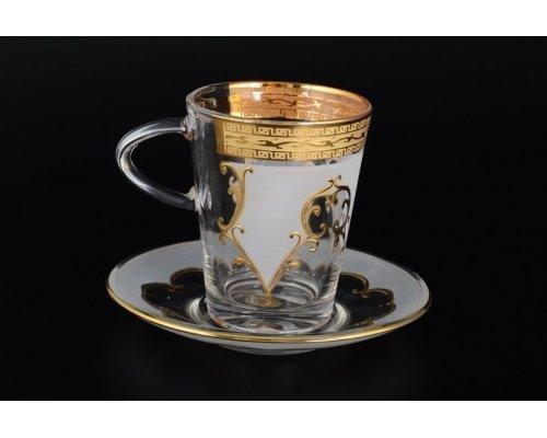 Набор чайных пар Версачи U-R фон Богемия Кристал (Bohemia Crystal) (6 пар)