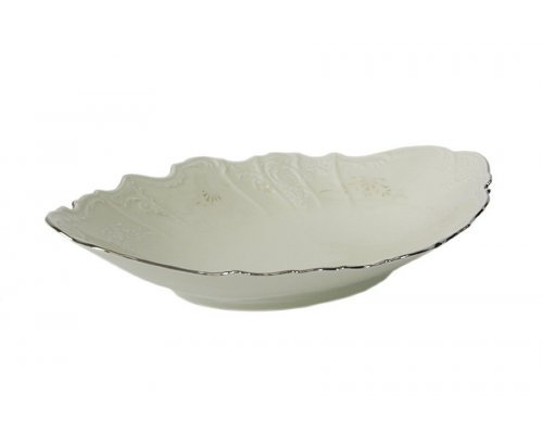 Блюдо для хлеба 34 см Бернадотт Платиновый узор BE-IVORY