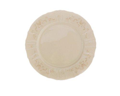 Блюдо круглое 30 см Бернадотт Платиновый узор BE-IVORY