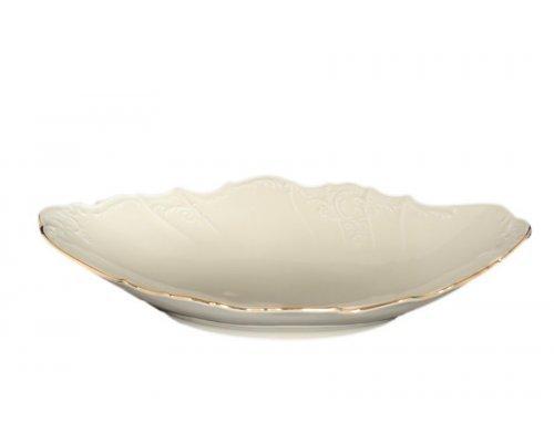 Блюдо для хлеба 34 см Бернадотт Белый узор BE-IVORY