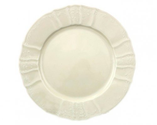 Набор тарелок 19 см Бернадотт Белый узор BE-IVORY 6 шт)