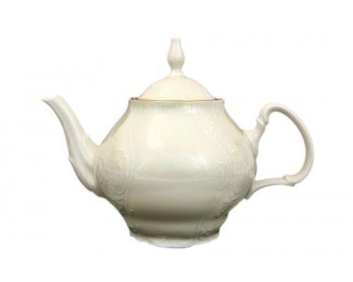 Чайник 1,2 л Бернадотт Белый узор BE-IVORY