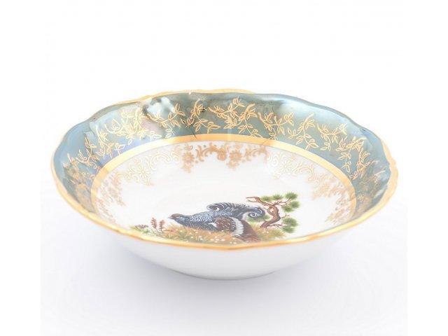 Набор салатников 16 см Охота Зеленая Sterne porcelan (6 шт)