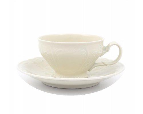 Набор чайных пар Bernadotte Недекорированный Be-Ivory 220 мл (6 пар)