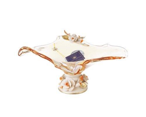 Фруктовница White Cristal 27 см белая