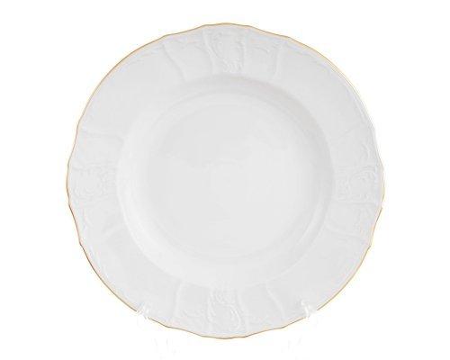 Блюдо глубокое-круглое 32см Бернадотт Белый узор