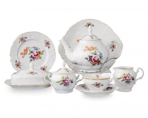 Чайный сервиз на 12 персон 43 предмета Бернадотт Полевой цветок