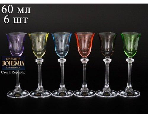 Набор рюмок для водки 60 мл Александра Арлекино (6 шт)