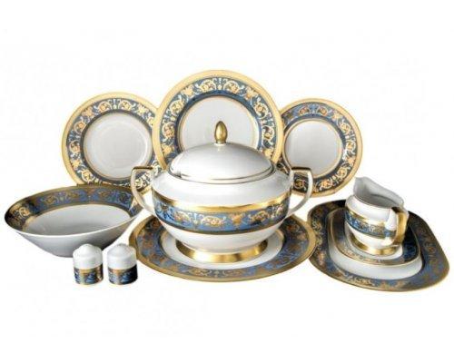 Столовый сервиз на 6 персон 27 предметов Falkenporzellan Imperial Blue Gold