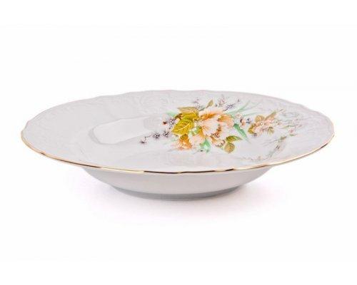 Набор глубоких тарелок 23 см Бернадотт Зеленый цветок (6 шт)
