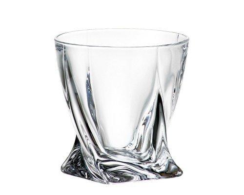 Набор стаканов для виски 340 мл Quadro Bohemia Crystal