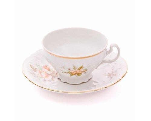 Набор чайных пар Зеленый цветок Bernadotte 220 мл (6 пар)