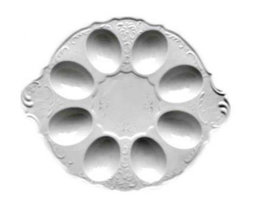 Поднос для яиц 25см Бернадотт Платиновый узор