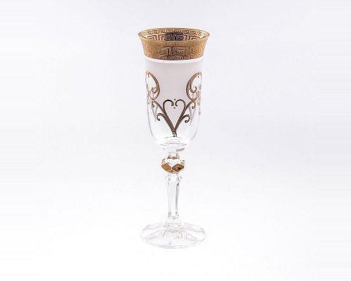 Набор фужеров для шампанского 180 мл Кристина Костка R-G фон Bohemia (Богемия) (6 шт)
