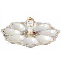 Тарелка для яиц с рукой 21 см Мадонна перламутр Корона Queens Crown