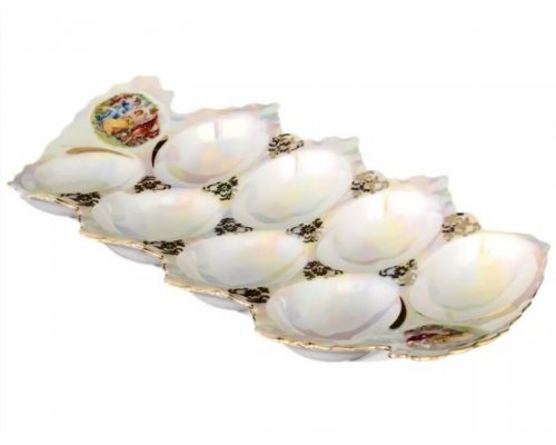Поднос для яиц 25 см Мадонна перламутр Корона Queens Crown