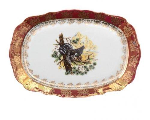 Блюдо прямоугольное 21см Охота красная Корона Queens Crown