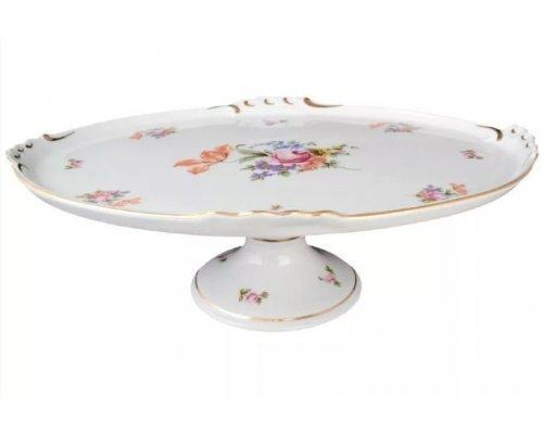Блюдо овальное 37 см на ножке Полевой цветок Корона Queens Crown