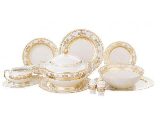 Столовый сервиз на 6 персон 27 предметов Falkenporzellan Cream Saphir Gold