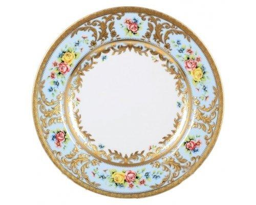 Набор тарелок 26,5 см (6 шт) Vienna seladon gold Falkenporzellan (Фалкенпоцеллан)