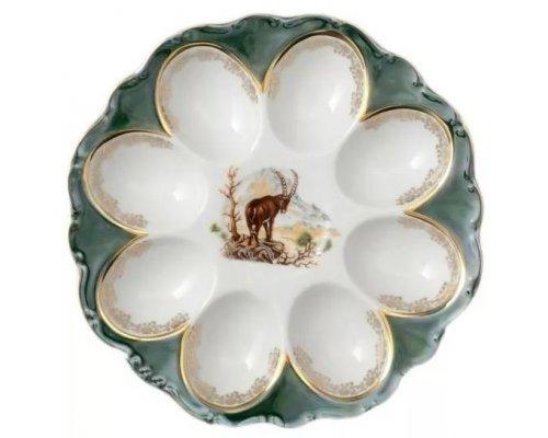 Поднос для яиц 21 см Охота зеленая Корона Queens Crown